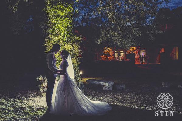 Mariés, portrait de nuit, mariage, couple, stenphoto, rennes
