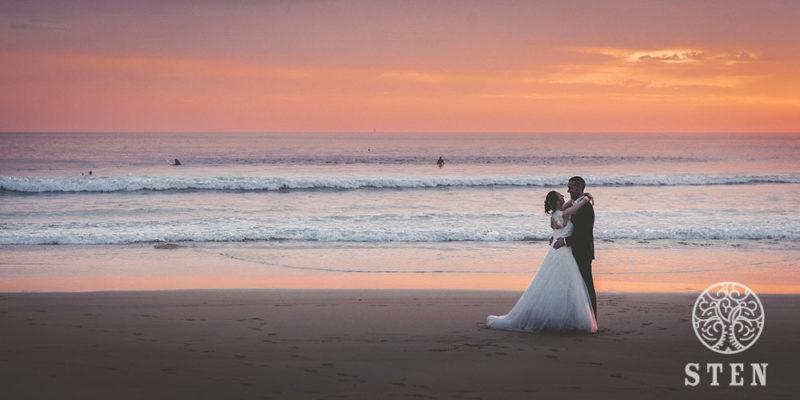 Mariés, Quiberon, plage, coucher de soleil