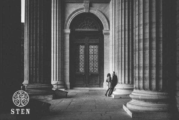 Couple, engagement, Paris