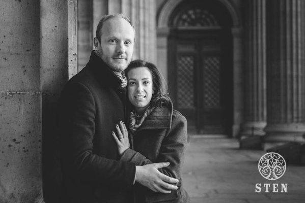 Engagement, Paris, couple, mariage