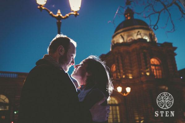 Couple, engagement, Paris, mariage