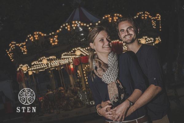 Couple, manège, Vannes, engagement, mariage