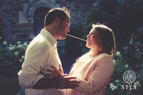 Couple, engagement, mariage, gourmandise