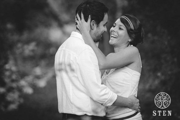 Couple, engagement, mariage, Rennes, rire, amour