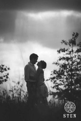 Couple, silouhette, engagement, Rennes, photo, Sten