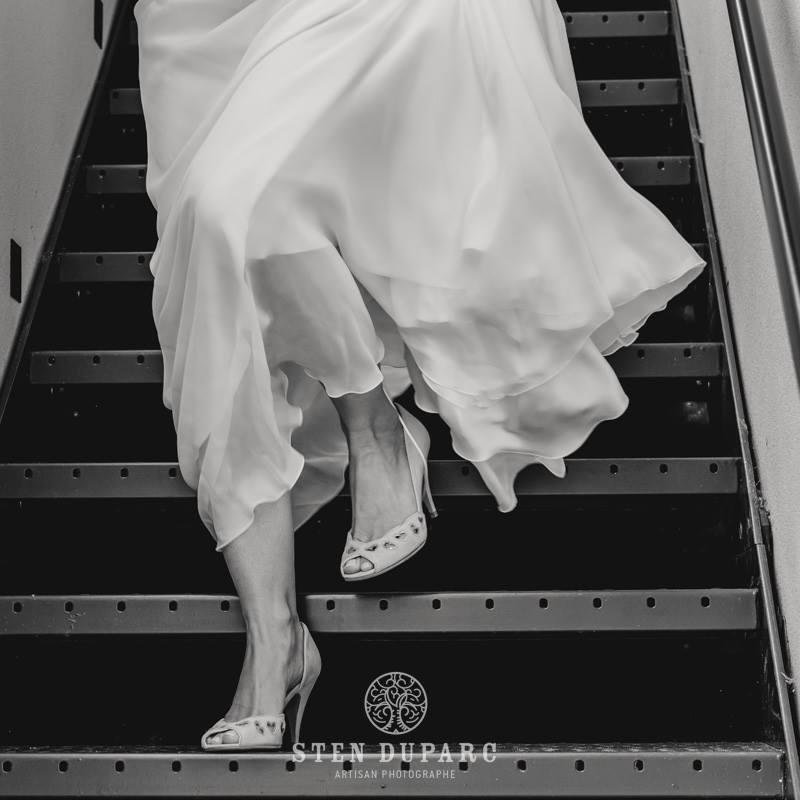 Photographe Rennes Mariage Escalier